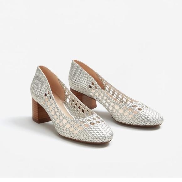 Mango Shoes   Mango Braided Silver